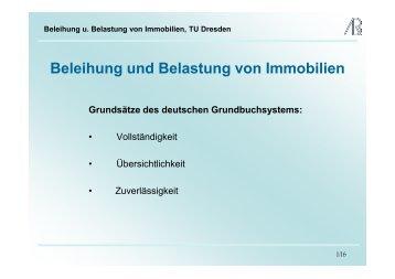 Beleihung und Belastung von Immobilien - Prof-rauch-tu-dresden.de