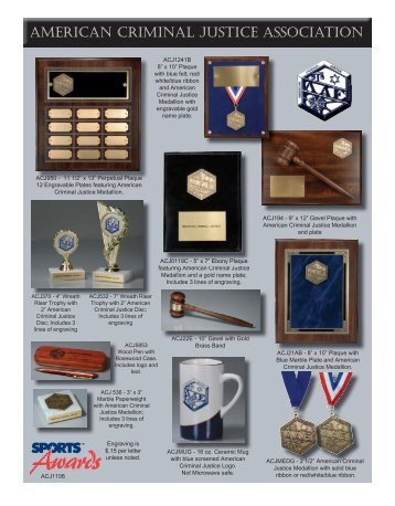 Trophies & Awards Order Form (pdf) - American Criminal Justice ...