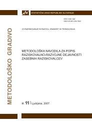 Metodološka navodila za popis raziskovalno razvojne dejavnosti ...