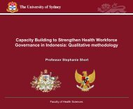Capacity Building to Strengthen Health Workforce Governance in ...