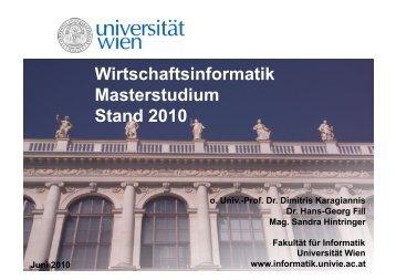 Masterinfo Wirtschaftsinformatik.pdf - Fakultät für Informatik ...