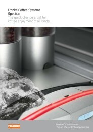 Franke Coffee Systems Spectra: The quick-change artist for coffee ...