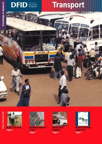 PDF (410 KB) - Transport for Development