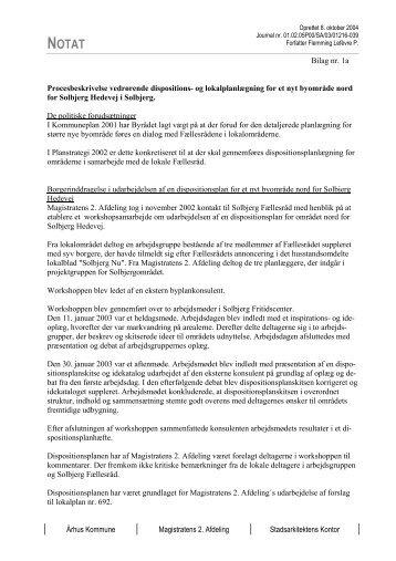 Århus Kommune Magistratens 2. Afdeling Stadsarkitektens Kontor ...