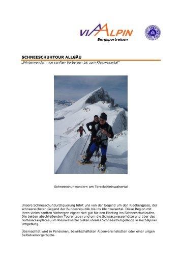 SCHNEESCHUHTOUR ALLGÄU - Via-Alpin.de
