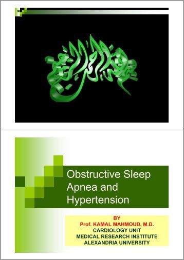 Obstructive Sleep Apnea and Hypertension