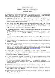 COMUNE DI CATANIA BANDO DI GARA – PROCEDURA APERTA ...