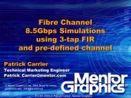 Fibre Channel 8.5Gbps Simulations using 3-tap FIR and pre ... - T11