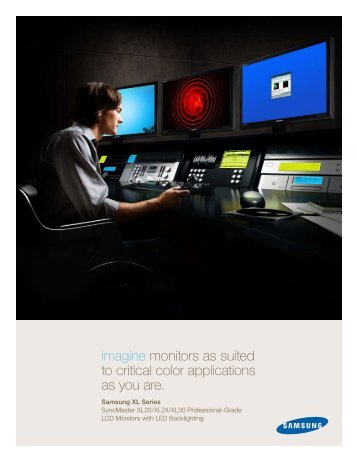 imagine monitors as suited to critical color applications as you are.