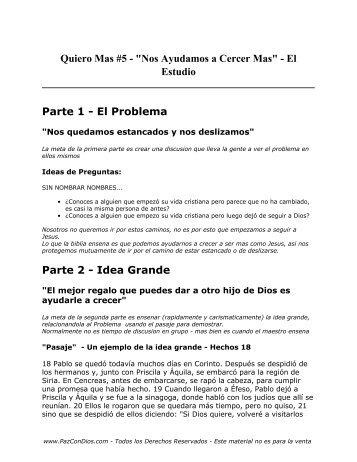 Quiero Mas - 5 - Estudio - PazConDios