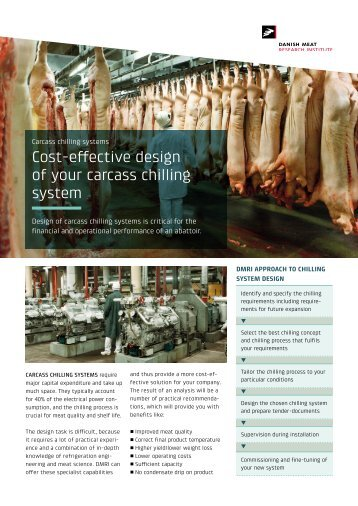 DMRI Best Practice Carcass Chilling Systems