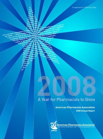 Annual Report PDF - American Pharmacists Association