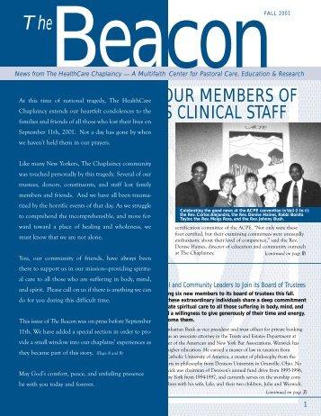 The Beacon Fall 2001 - HealthCare Chaplaincy