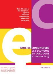Conjoncture de l'économie en Dordogne 1er ... - CCI Dordogne