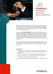 AutoMaster transporto priemonių administravimas - Sintagma