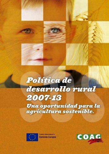 La política de desarrollo rural es… - Coag