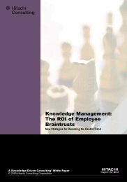 Knowledge Management - Hitachi Consulting