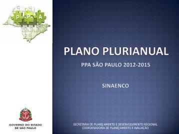 PPA São Paulo 2012 - 2015 (SINAENCO) - Floriano Pesaro