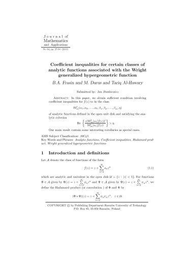 FullText JMA 34_03.pdf - Journal of Mathematics and Applications