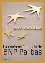 La conformité au sein de - BNP Paribas