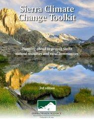 Sierra Climate Change Toolkit - Sierra Nevada Alliance