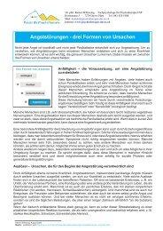 Angststörungen - Dr. phil. Rainer Wilkening