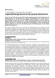 Jugendherberge Scuol ist die grosse Gewinnerin - Award für ...