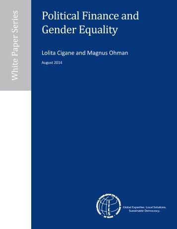 IFES Political Finance and Gender Equality White Paper