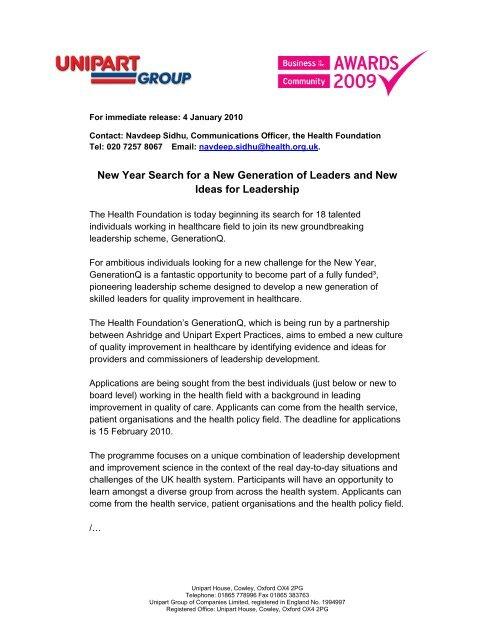 read press release - Unipart Logistics