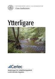 Ytterligare - Certec - Lunds Tekniska Högskola