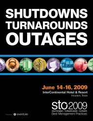 June 14-16, 2009 - Shutdowns - Turnarounds - Outages - STO ...