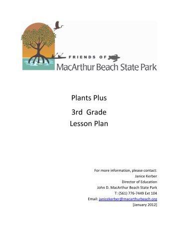 Plants Plus 3rd Grade Lesson Plan - John D. MacArthur Beach State ...