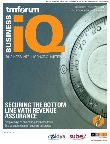 SECURING THE BOTTOM LINE WITH REVENUE ASSURANCE - Subex