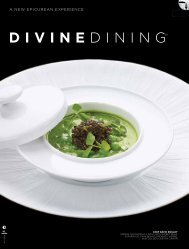 divine dininGSm eXPeRience - HauteLife Press