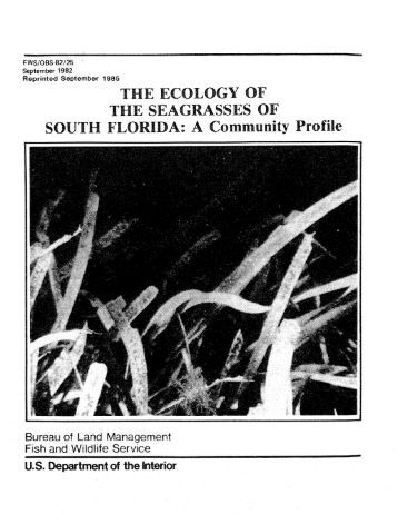 The Ecology of the Seagrasses of South Florida - USGS National ...
