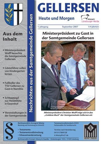 Mitteilungsblatt 09/2007 (pdf 4,95 MB) - Samtgemeinde Gellersen