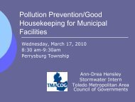 Pollution Prevention/Good Housekeeping for Municipal Facilities