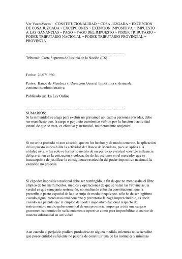 Banco de Mendoza s Impuesto a los Reditos124.89 KB