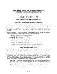 McMorran-RFQ Cover Letter - City of Port Huron