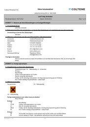 Säkerhetsdatablad - Coltène Whaledent Gruppe