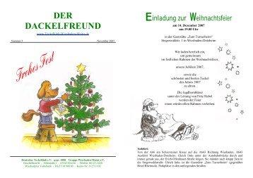 Der Dackelfreund - Nr. 5/2007 - Teckelklub Wiesbaden/ Mainz