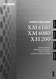 XM4180 Owner's Manual - Sonic Sense Sonic Sense
