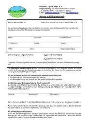 Antrag auf Mitgliedschaft, ab 2012 - Golf Club Op de Niep