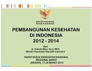 Presentasi Menkes - Departemen Kesehatan Republik Indonesia