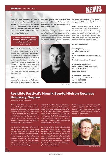 VIP newsletter September07.indd - VIP-Booking