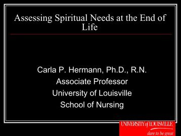 Assessing Spiritual Needs at the End of Life