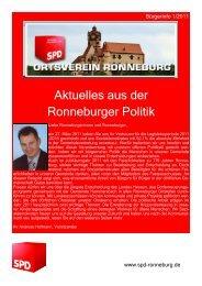 Aktuelles aus der Ronneburger Politik - SPD Ronneburg