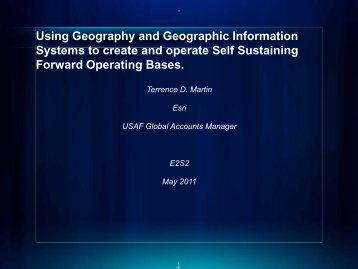 Using Geography and Geographic Information Systems to ... - E2S2