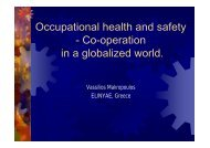 Occupational health and safety - Co-operation in a ... - euroshnet