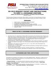 ds-2019 request packet and instructions to host j-1 exchange visitors